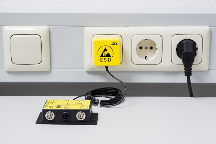 ESD Schutz: Erdung an Steckdose